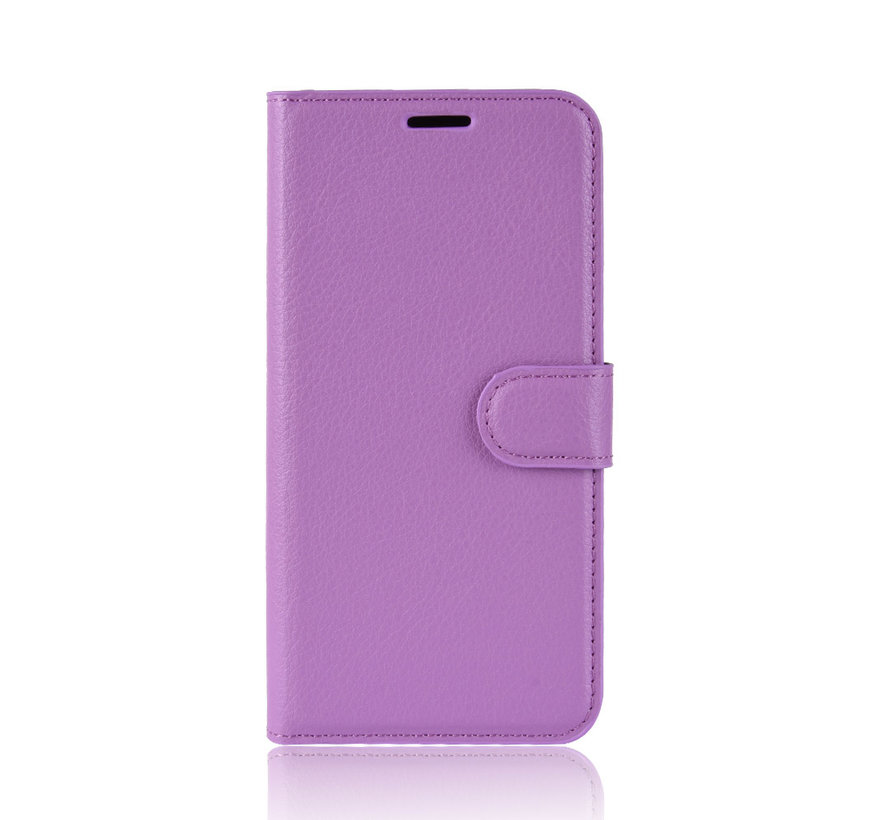 OnePlus 7 Hoesje Wallet Flip Case Paars