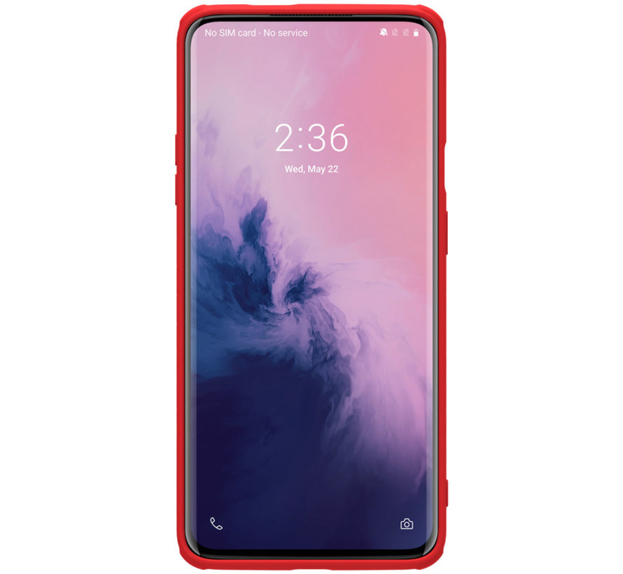 OnePlus 7 Pro Hoesje Rubber Wrapped Rood