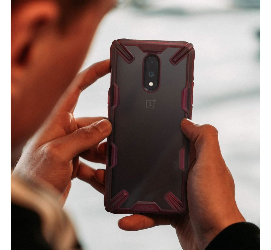 OnePlus 7 Hoesje Fusion X Rood