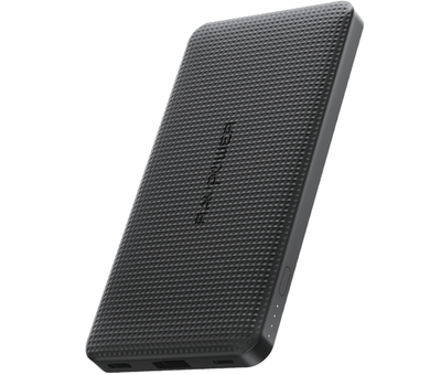 RAVPower OnePlus Powerbank 10,000 mAh Black Ultra Thin Design