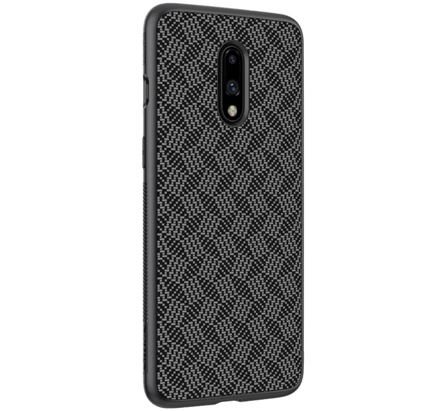 OnePlus 7 Striped Fiber Hülle