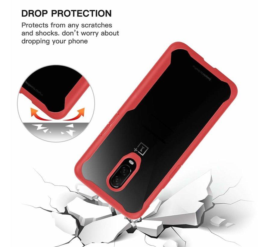 OnePlus 7 Hoesje Hybrid Bumper Rood