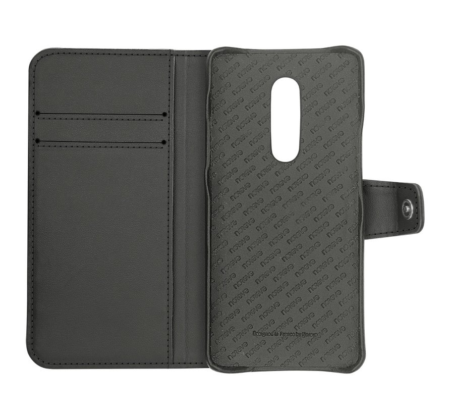 OnePlus 7 Pro Wallet Case Genuine Leather Brown