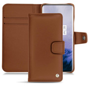 Noreve OnePlus 7 Pro Wallet Case Premium Nappa Leather Brown