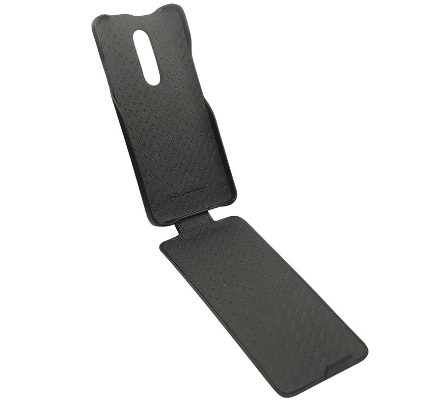 OnePlus 7 Pro Vertical Flip Case Echtes Leder Braun