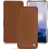 Noreve OnePlus 7 Pro Horizontal Flip Case Genuine Leather Brown