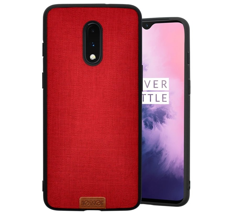 OnePlus 7 Case Fabric Red