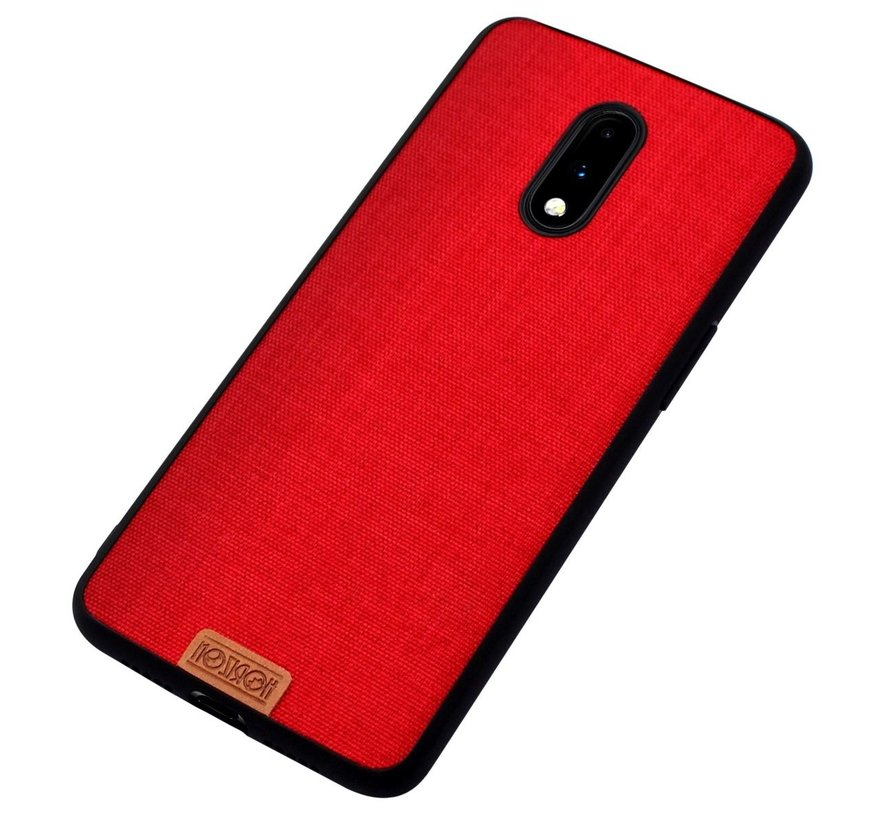 OnePlus 7 Hoesje Fabric Rood