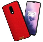 Noziroh OnePlus 7 Fabric Red Case