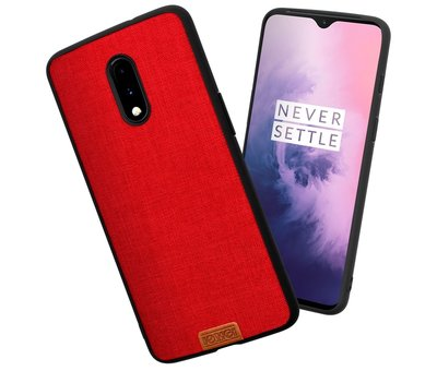 Noziroh OnePlus 7 Fabric Red Hülle
