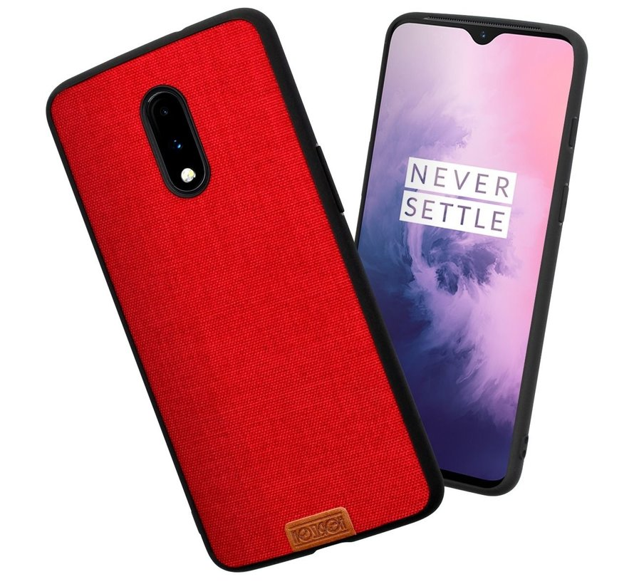 OnePlus 7 Fabric Red Hülle
