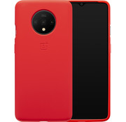 OnePlus 7T Siliconen Bumper Case Rood
