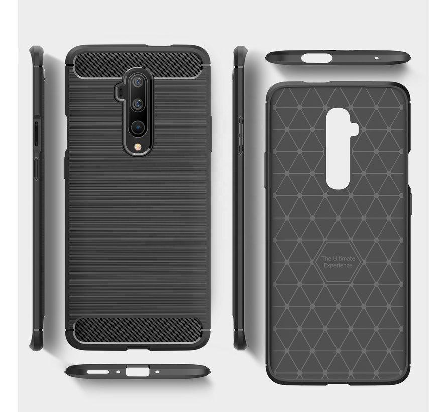 OnePlus 7T Pro Hülle Brushed Carbon Schwarz