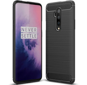 OPPRO OnePlus 7T Pro Hülle Brushed Carbon Schwarz
