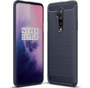 OPPRO OnePlus 7T Pro Hülle Brushed Carbon Blau