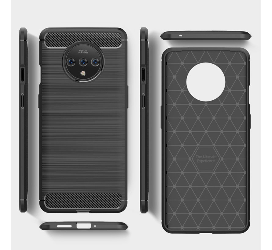 OnePlus 7T Case Brushed Carbon Blue