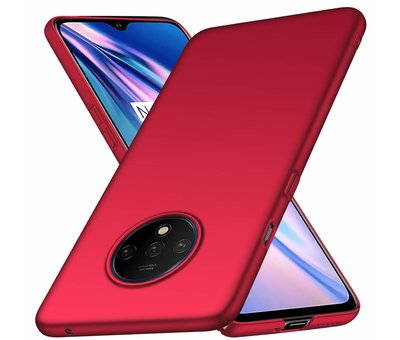 OPPRO OnePlus 7T Hülle Ultra Slim Grip Rot