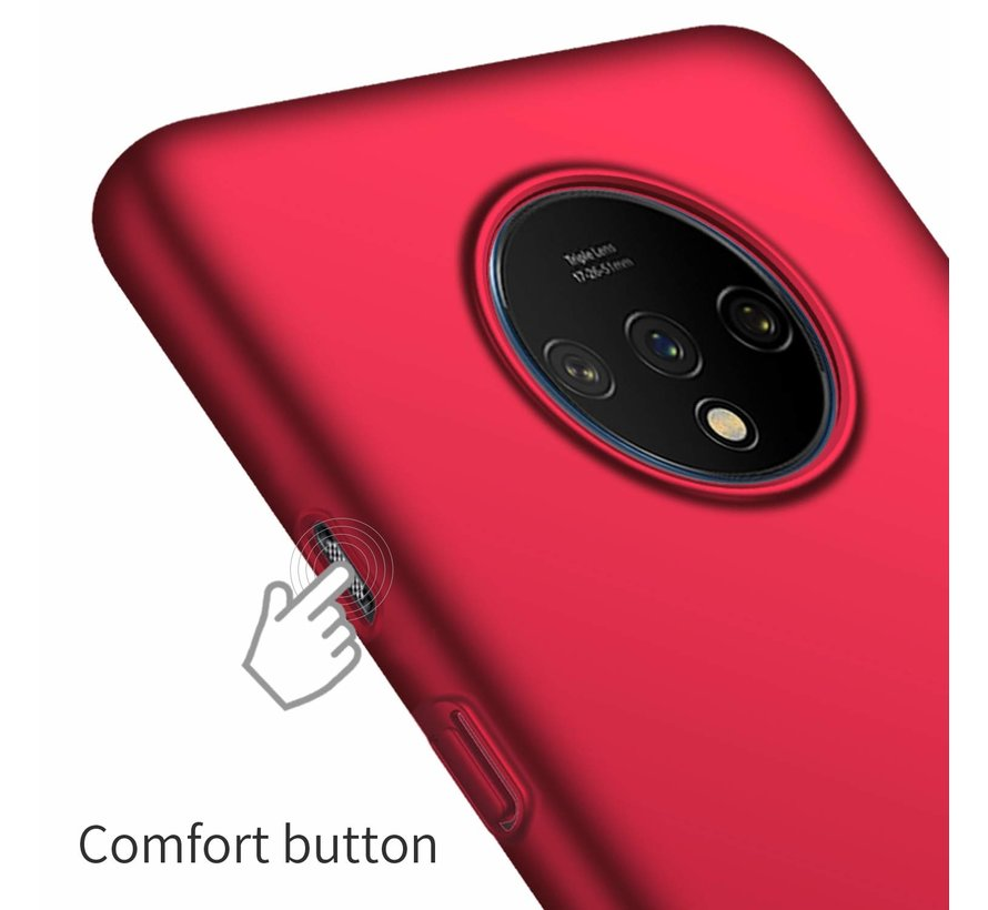 OnePlus 7T Hülle Ultra Slim Grip Rot