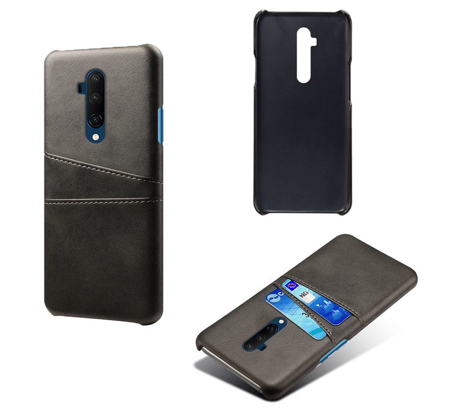 OnePlus 7T Pro Case Slim Leder Kartenhalter Schwarz
