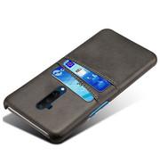 OPPRO OnePlus 7T Pro Case Slim Leder Kartenhalter Schwarz