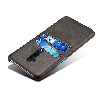 OPPRO OnePlus 7T Pro Hoesje Slim Leder Kaarthouder Zwart