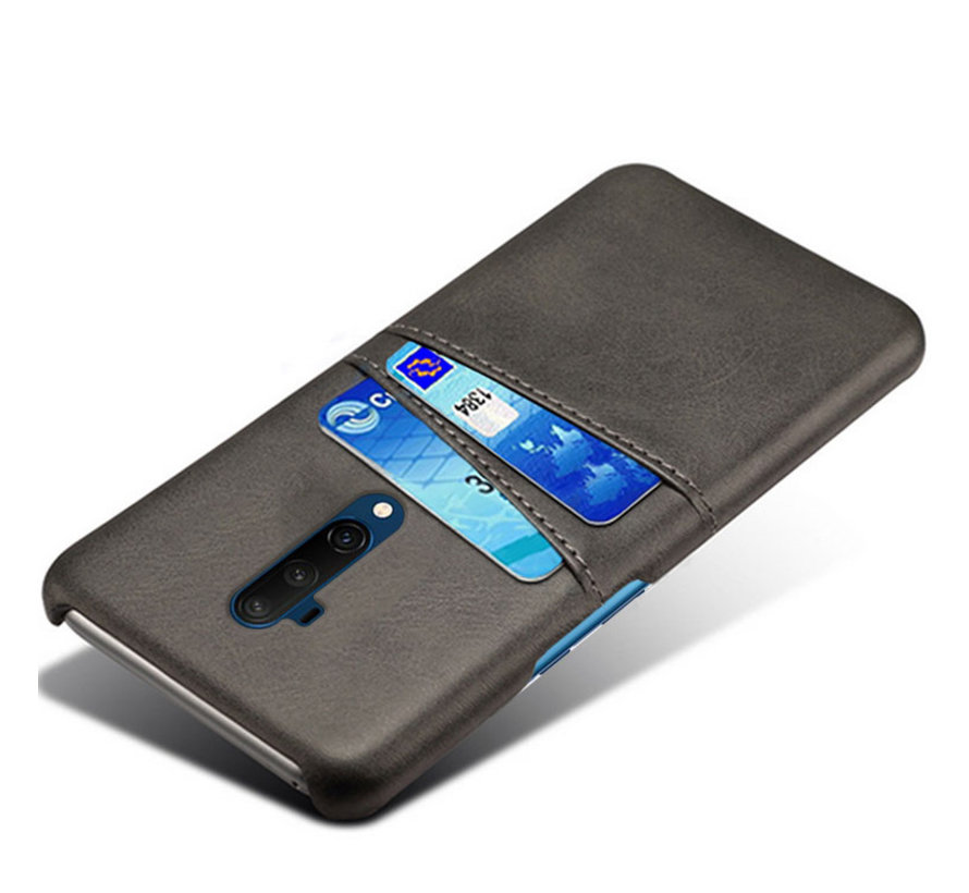 OnePlus 7T Pro Hoesje Slim Leder Kaarthouder Zwart