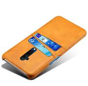OPPRO OnePlus 7T Pro Hoesje Slim Leder Kaarthouder Cognac Bruin