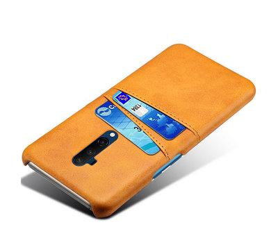 OPPRO OnePlus 7T Pro Case Slim Leder Kartenhalter Cognac Braun