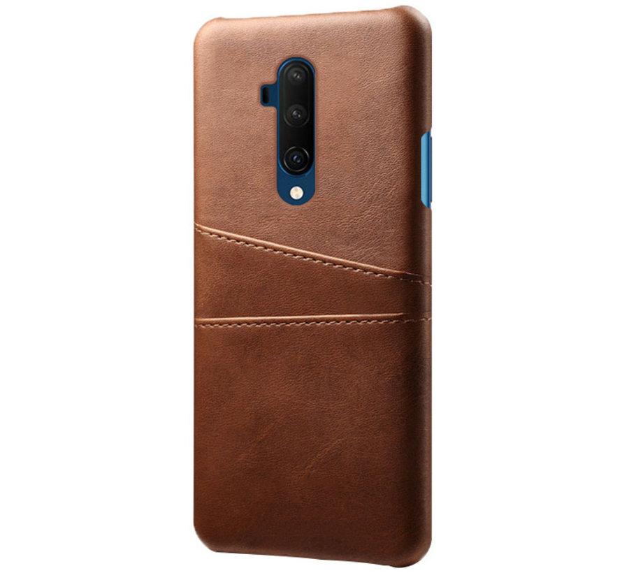 OnePlus 7T Pro Hoesje Slim Leder Kaarthouder Bruin
