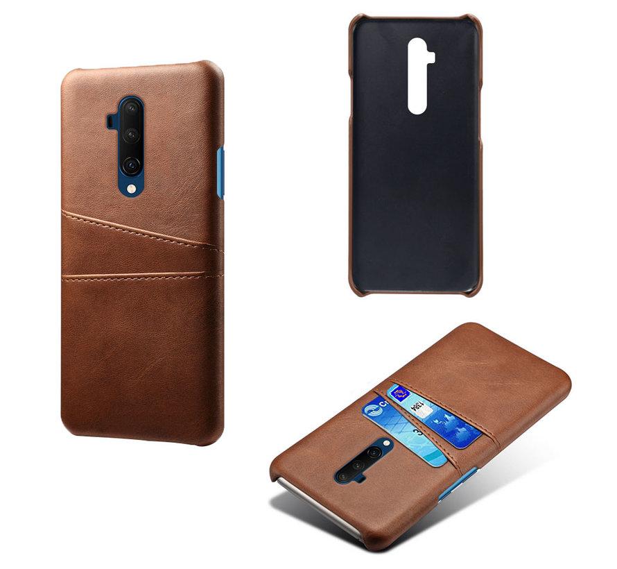 OnePlus 7T Pro Case Slim Leder Kartenhalter Braun