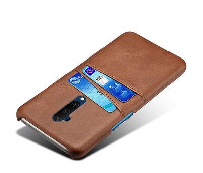 OPPRO OnePlus 7T Pro Case Slim Leder Kartenhalter Braun