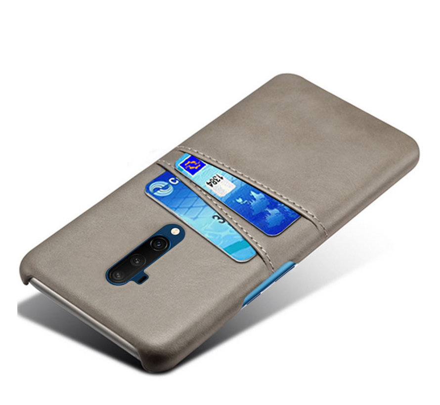 OnePlus 7T Pro Case Slim Leder Kartenhalter Grau
