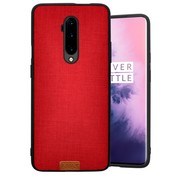 Noziroh OnePlus 7T Pro Hülle Stoff Rot