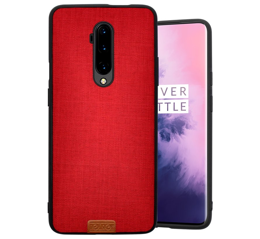 OnePlus 7T Pro Hülle Stoff Rot