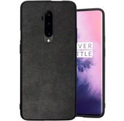 OPPRO OnePlus 7T Pro Hoesje Premium Alcantara