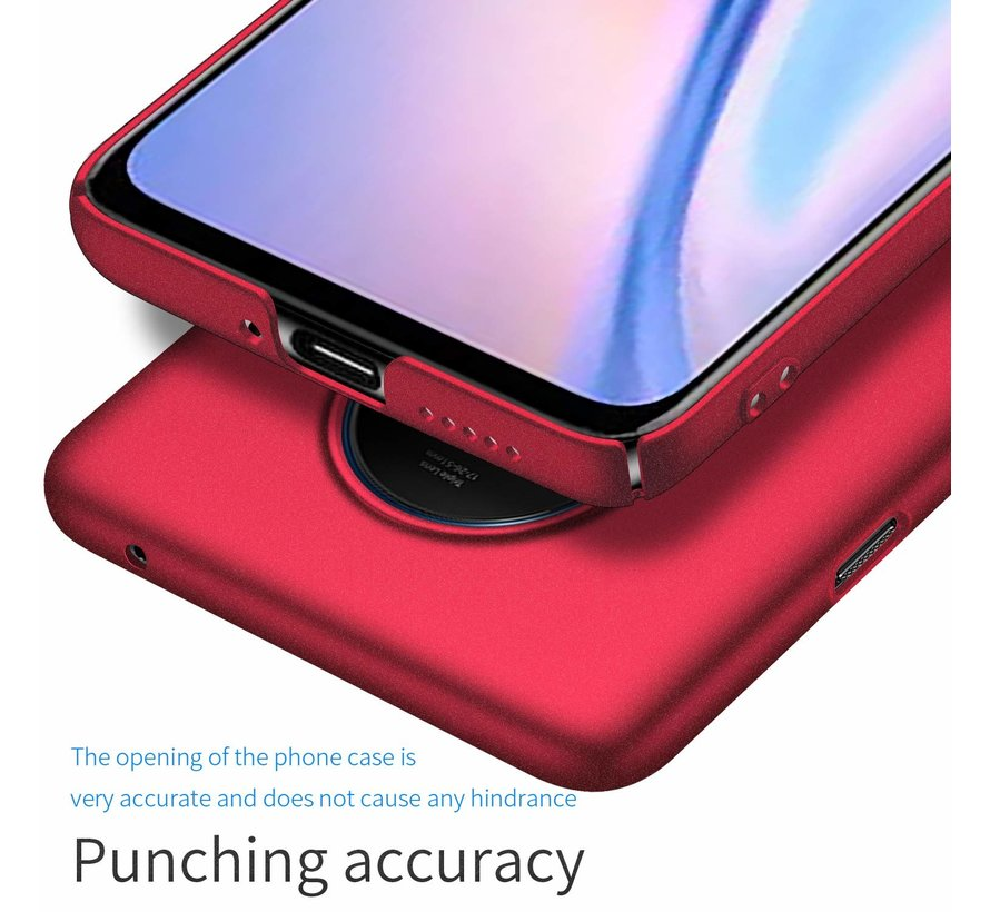 OnePlus 7T Hülle Ultra Slim Grip Textur Rot