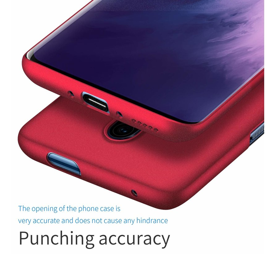 OnePlus 7T Pro Case Ultra Slim Grip Texture Red