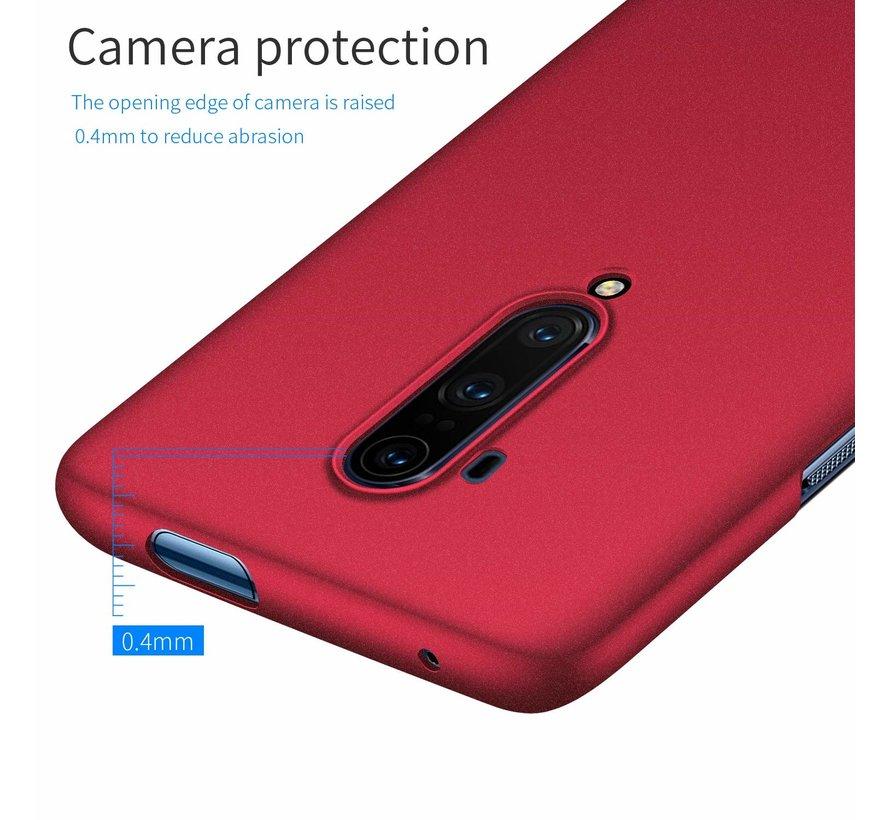 OnePlus 7T Pro Hoesje Ultra Slim Grip Texture Rood