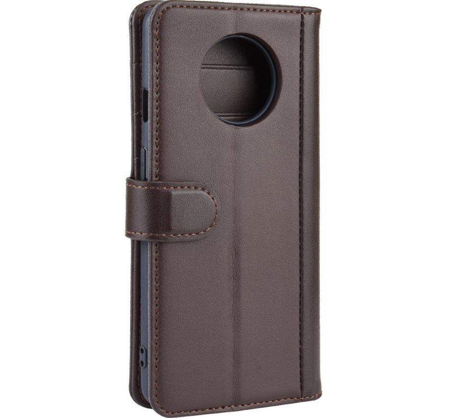 OnePlus 7T Wallet Case Echtes Leder Braun