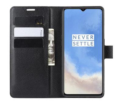 OPPRO OnePlus 7T Wallet Flip Case Schwarz