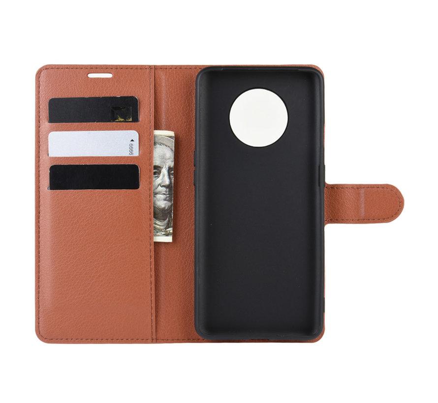 OnePlus 7T Wallet Flip Case Bruin
