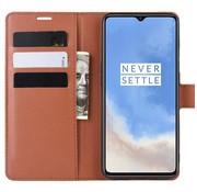 OPPRO OnePlus 7T Wallet Flip Case Bruin