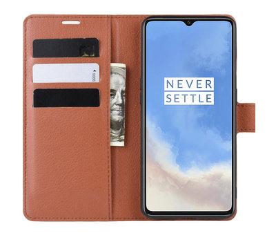 OPPRO OnePlus 7T Wallet Flip Case Braun