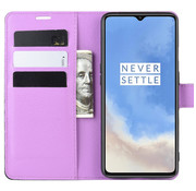 OPPRO OnePlus 7T Wallet Flip Case Paars