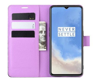 OPPRO OnePlus 7T Wallet Flip Case Lila