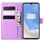 OnePlus 7T Wallet Flip Case Lila