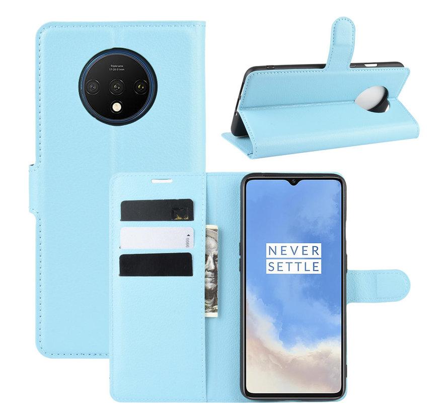 OnePlus 7T Wallet Flip Case Blauw