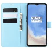 OPPRO OnePlus 7T Wallet Flip Case Blauw