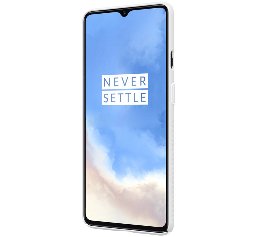 OnePlus 7T Hoesje Super Frosted Shield Wit
