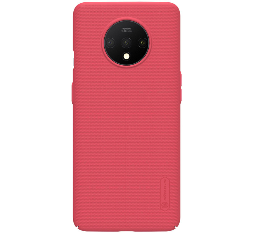 OnePlus 7T Hoesje Super Frosted Shield Rood
